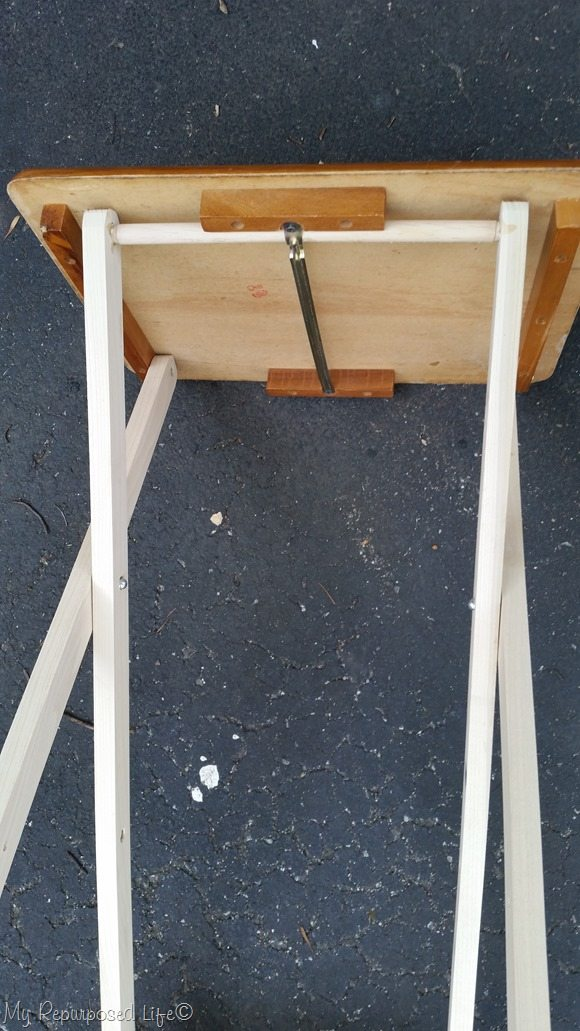 tall tv table underneath side
