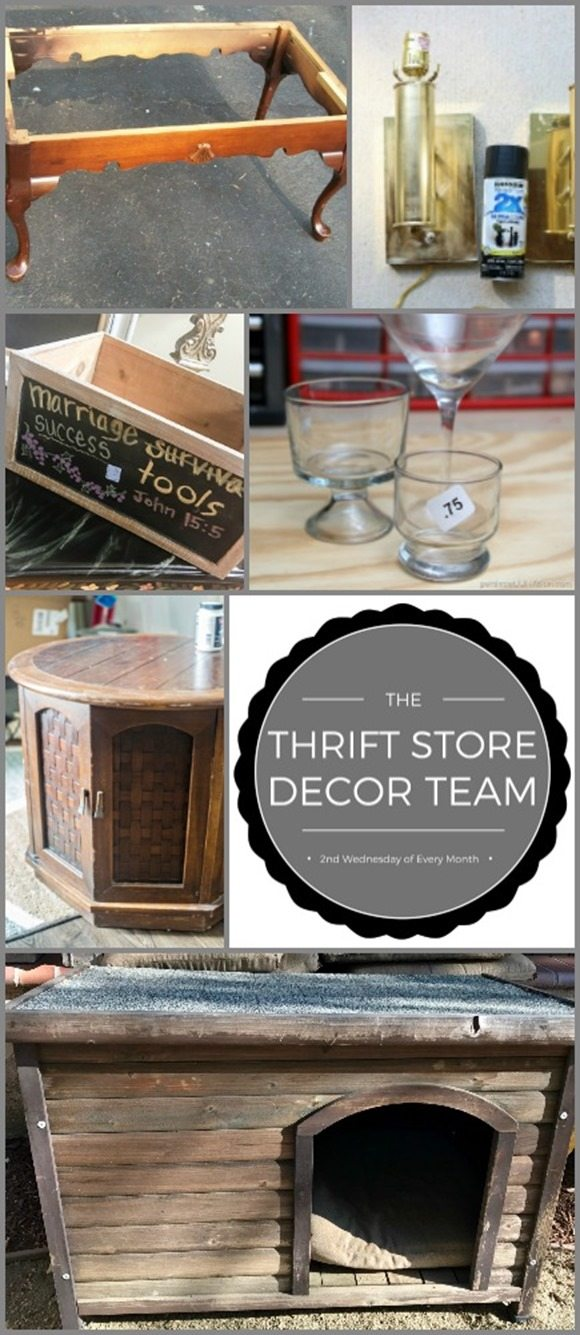 thrift store decor projects July 2017