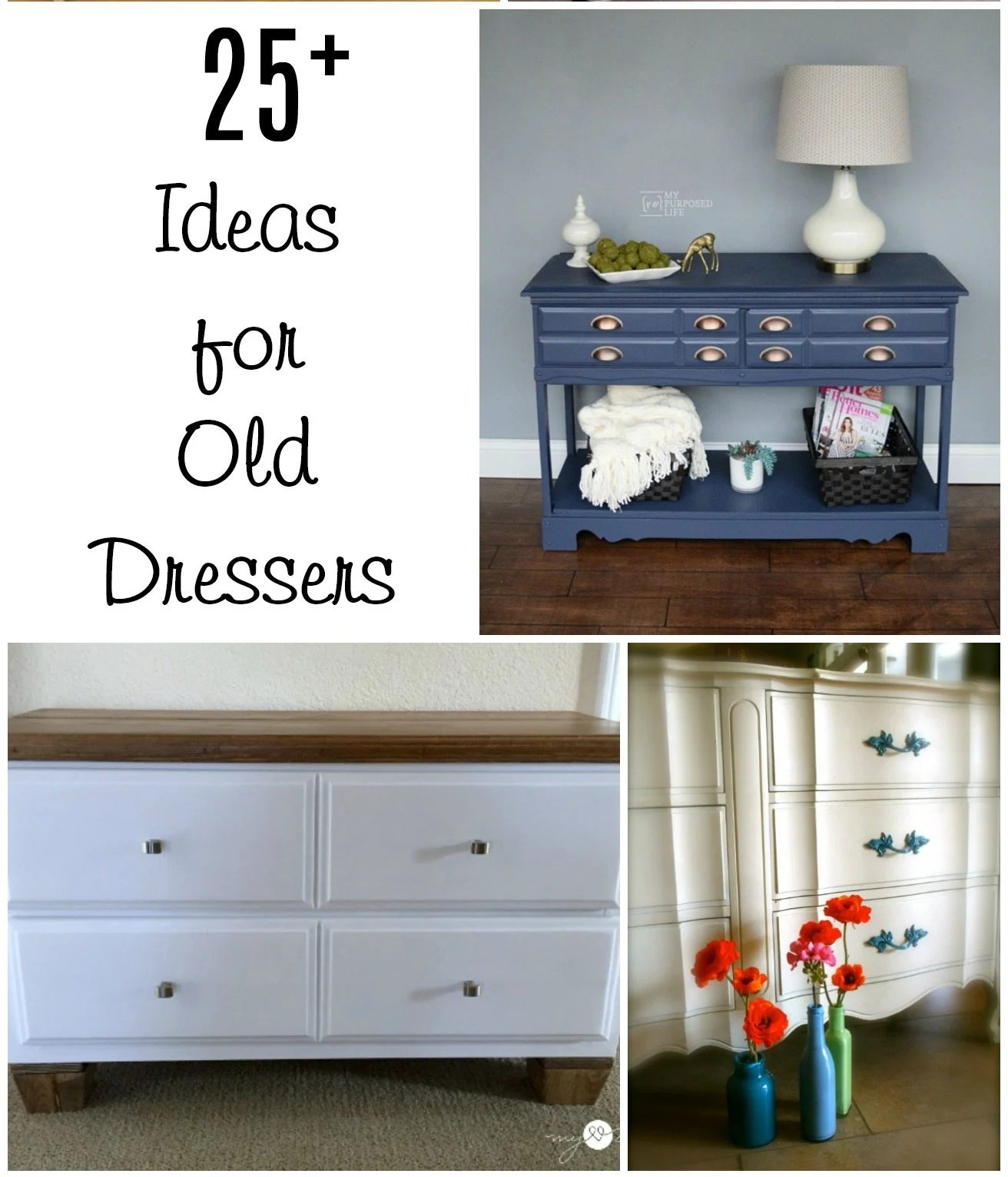 Ideas: Repurposed Furniture Old Dresser Ideas And Makeovers