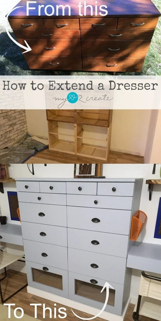 How to Extend a Dresser, MyLove2Create