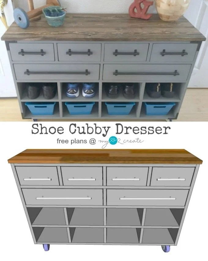 Shoe Cubby Dresser pin, MyLove2Create