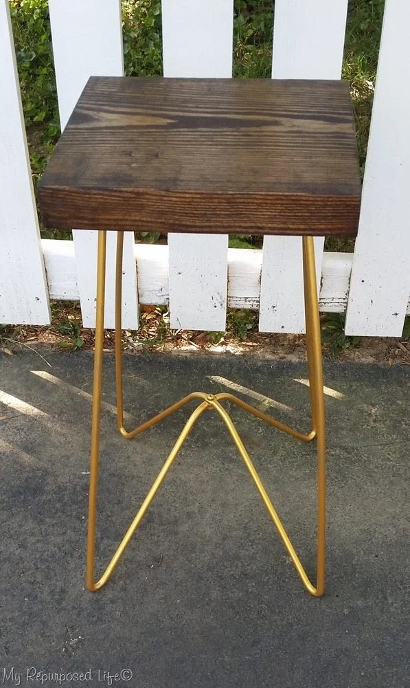 metal table legs painted gold