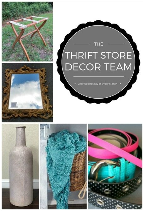 thrift store decor challenge August 2017