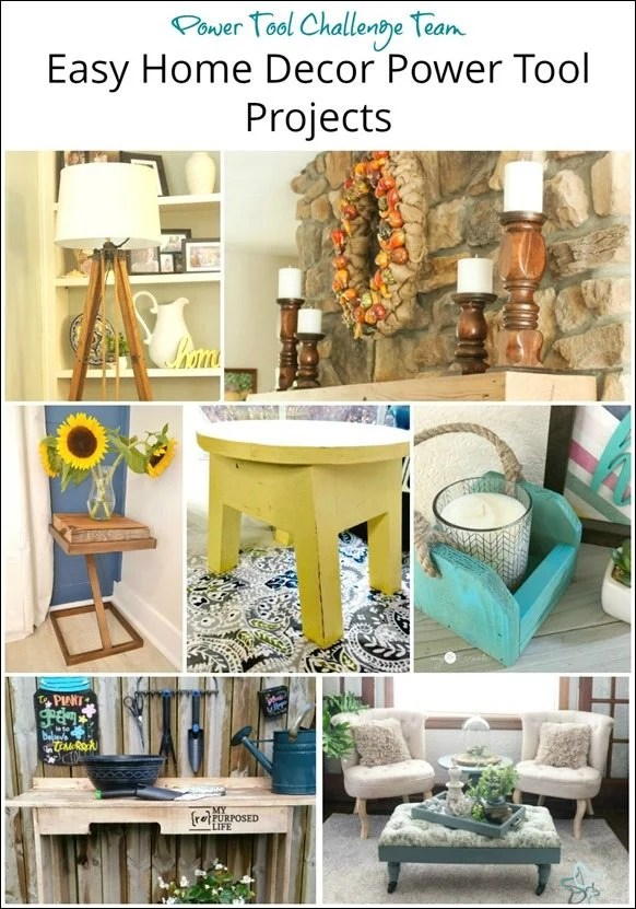Easy Home Decor Power Tool Projects