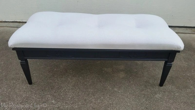 black coffee table upholstered bench