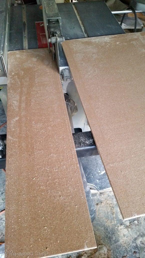 cut cork board on table saw