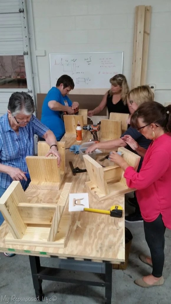 maker 13 step stool workshop event with gail wilson