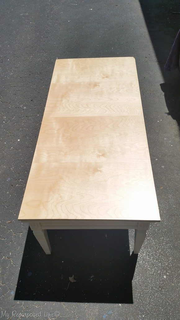 old coffee table new top