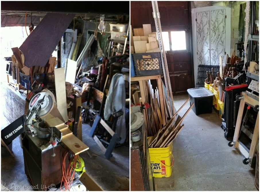 outside wall before and after