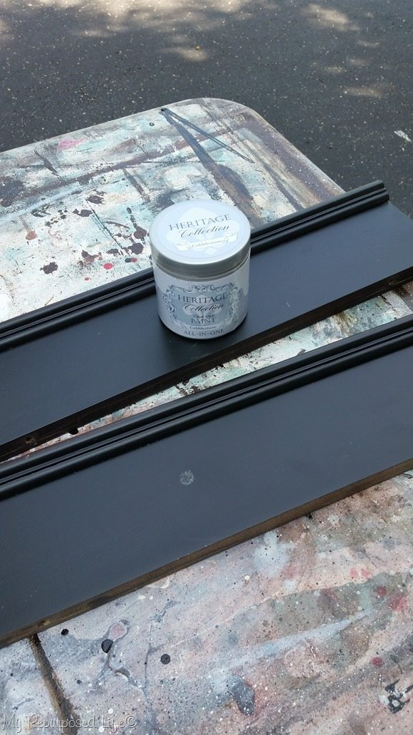 paint small wood trim pieces