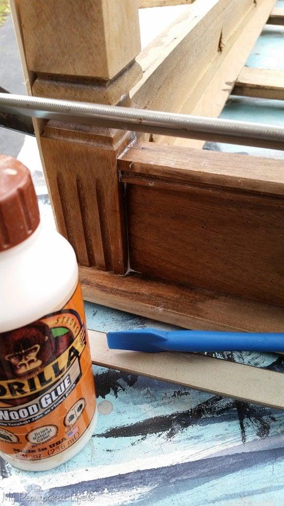 repair vintage coffee table Gorilla Wood Glue