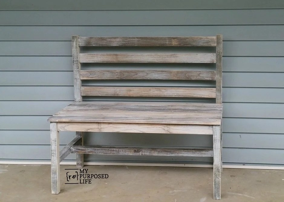 Terrific Wooden Slat Bench Plans Rustic Bench With Back My Short Links Chair Design For Home Short Linksinfo