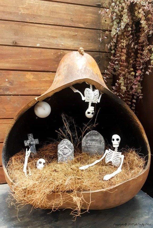 halloween fairy graveyard moon gourd