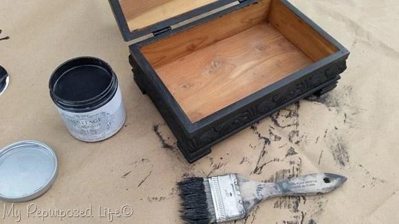 paint wooden keepsake box