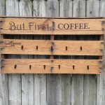 Pallet Coffee Cup Rack