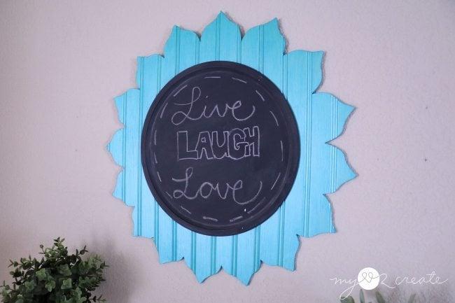 Decorative flower chalkboard