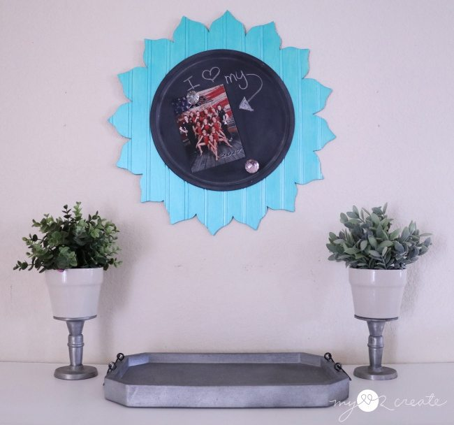 Magnetic Chalkboard Flower cut out