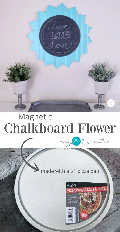 Magnetic chalkboard flower
