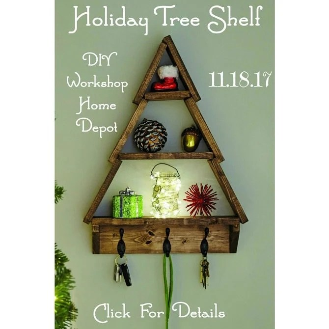 holiday tree shelf home depot diy workshop