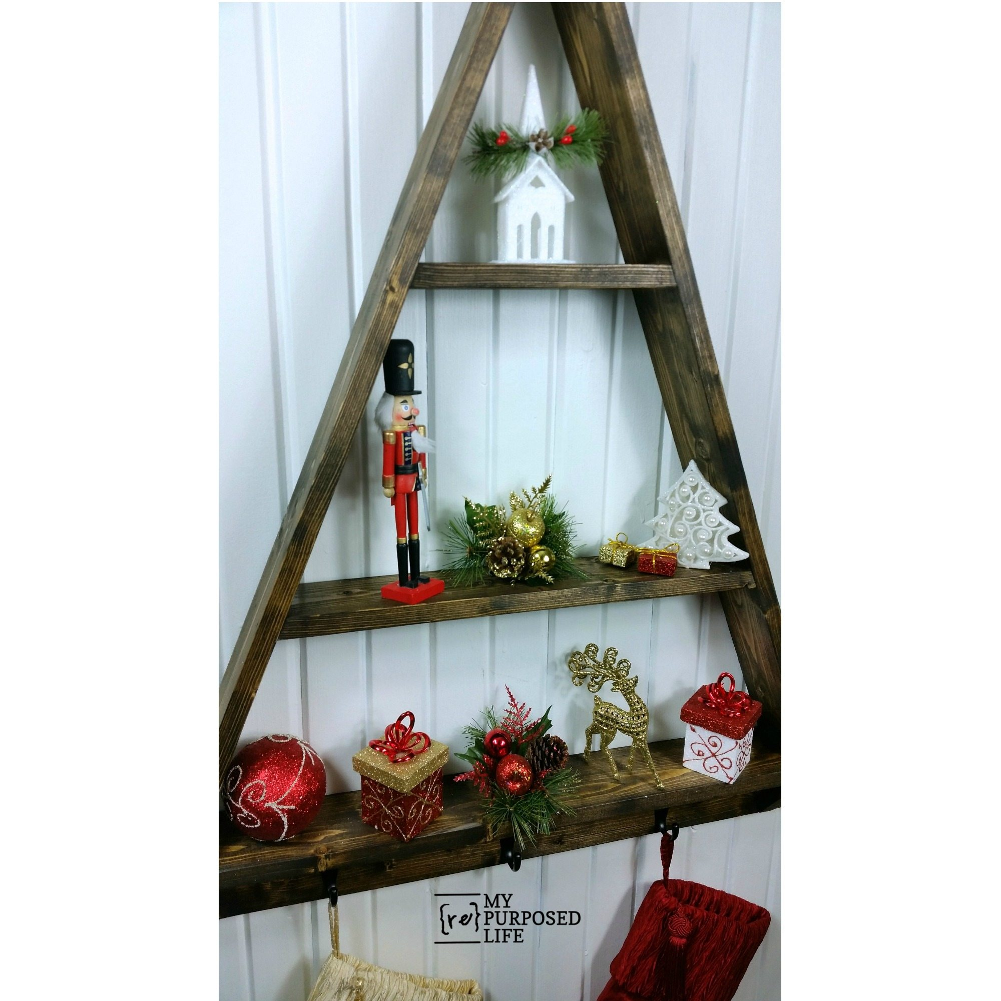 Diy Christmas Tree Shelf My Repurposed Life
