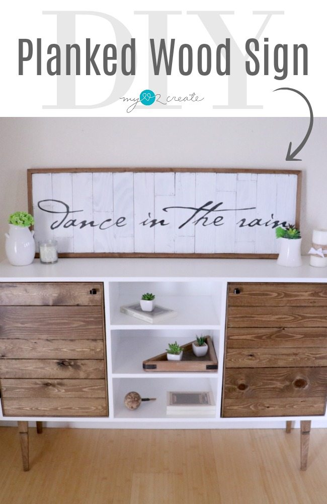 DIY Planked wood sign tutorial