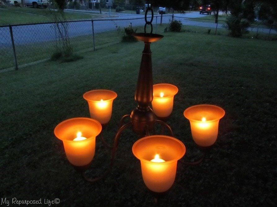 brown candelabra
