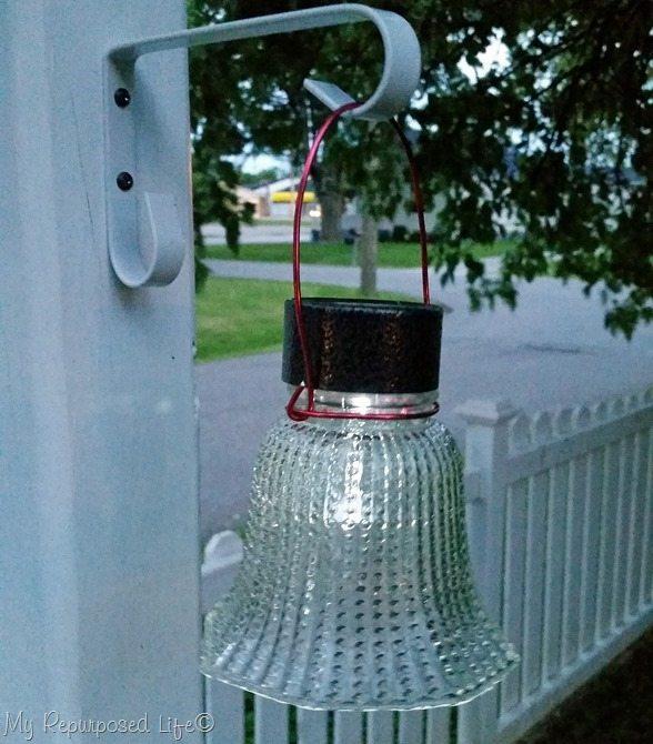 ceiling fan globe easy solar light MyRepurposedLife.com