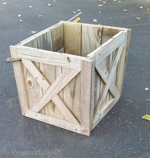 Christmas Tree Stand Box   Folds Flat for Storage - My Repurposed Life®