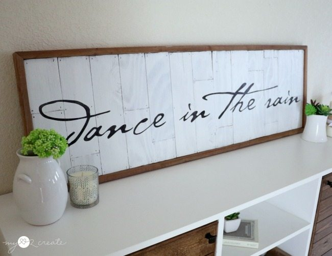 planked and stenciled sign