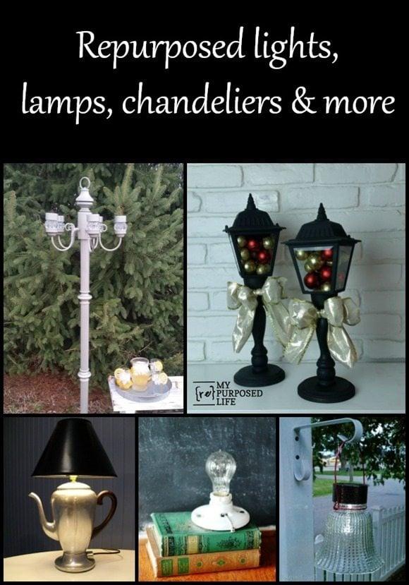 repurposed lights lamps chandeliers and more MyRepurposedLife.com