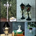 Repurposed Lamps Chandeliers and more