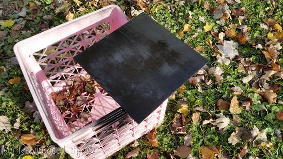 spray paint thin plywood