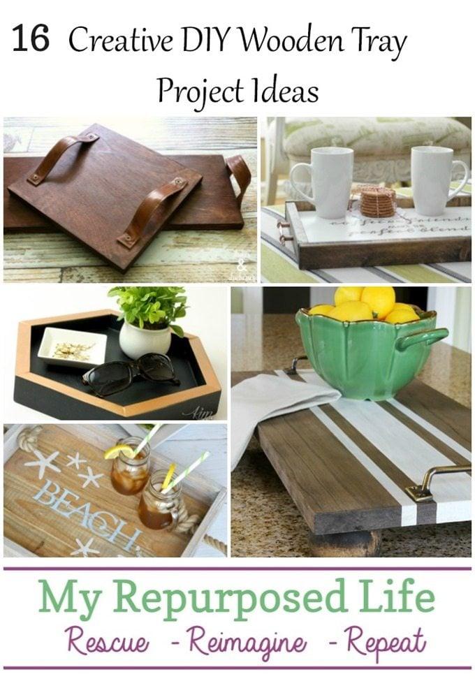 creative diy wooden tray project ideas MyRepurposedLife.com