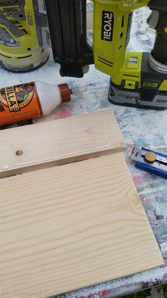 use gorilla wood glue for headband organizer
