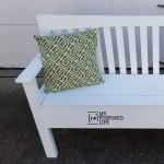 Mission Style Headboard Bench with Storage