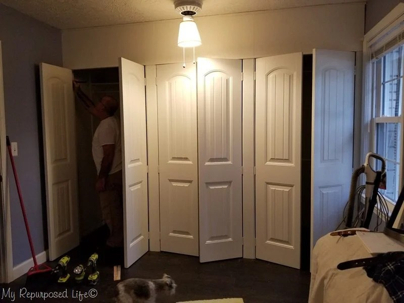 bi-fold doors turned into french closet doors