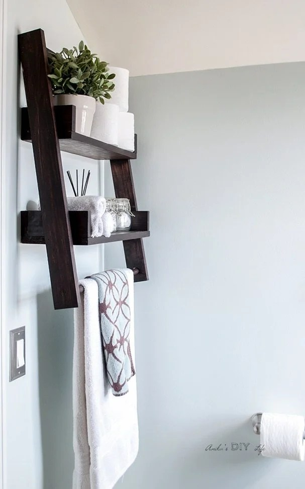 floating ladder shelf