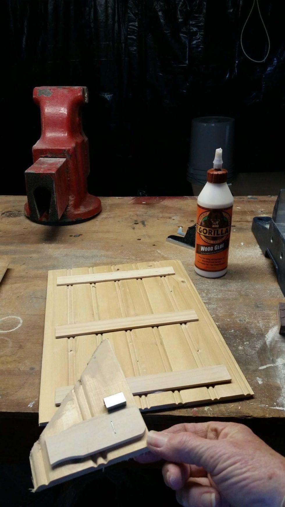 test staple in scrap material