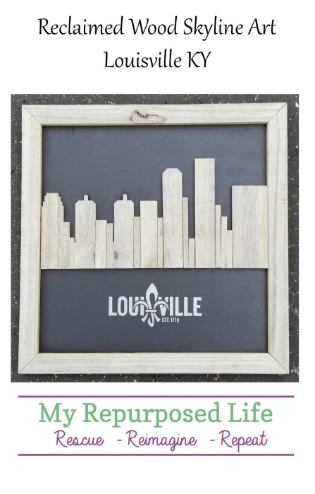 reclaimed wood skyline art upcycled rustic fencing