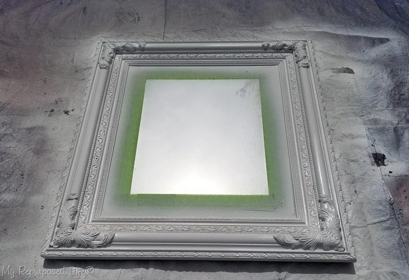 black gold mirror semi-gloss white paint