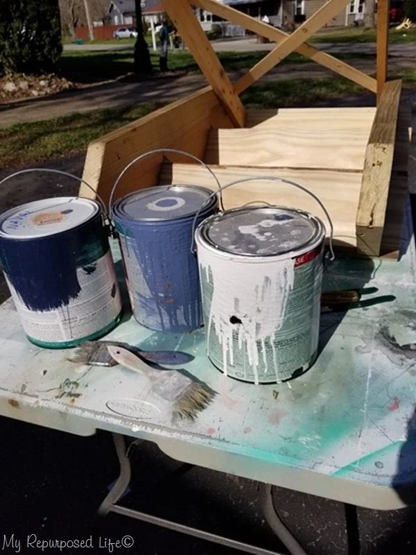 how to get an aged paint look on new lumber
