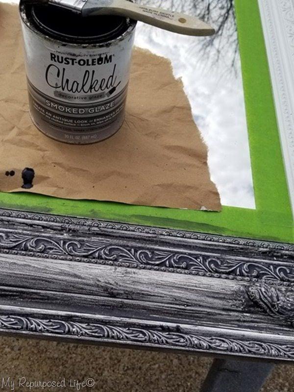how to glaze ornate mirror frame