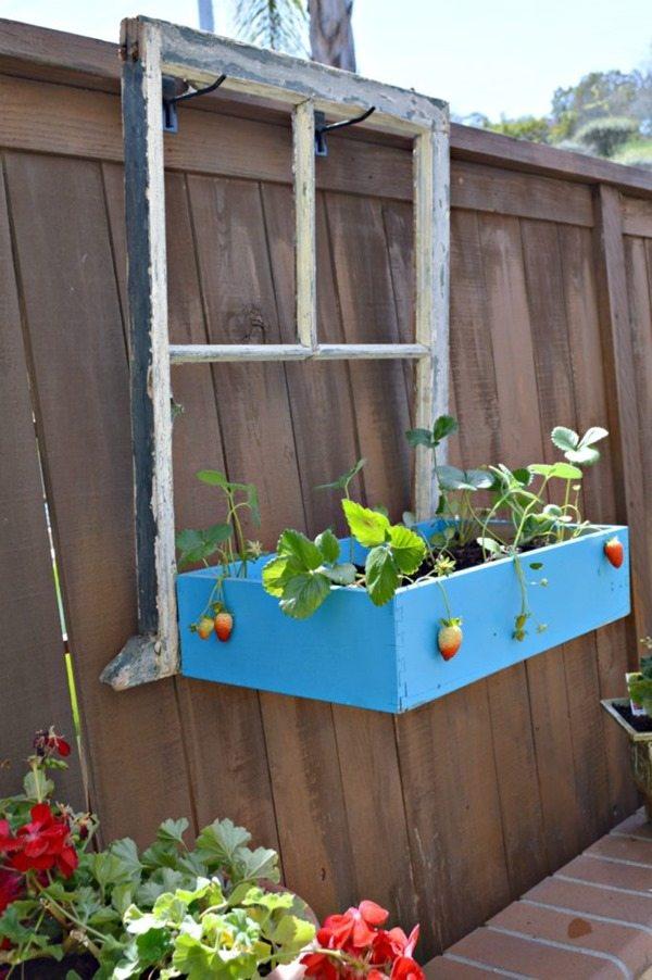 repurposed window planter