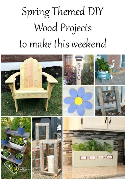 Spring Themed Wood Projects My Repurposed Life