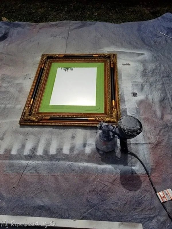 tape off mirror paint with finish max