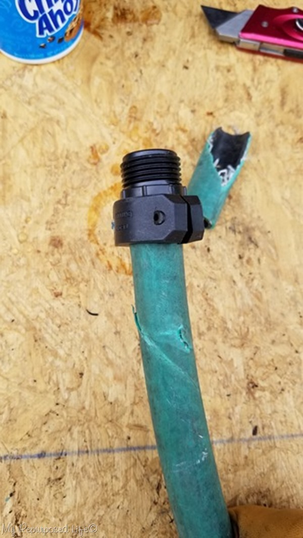 inspect your damaged garden hose