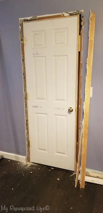 installing new door trim