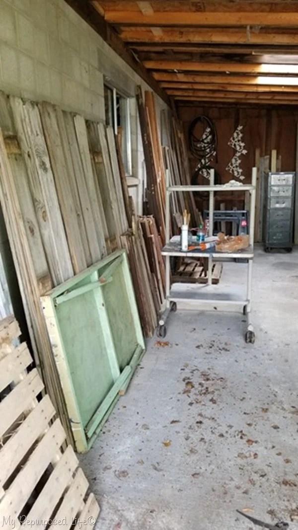 storing reclaimed lumber