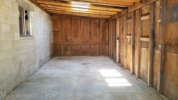 woodshed after