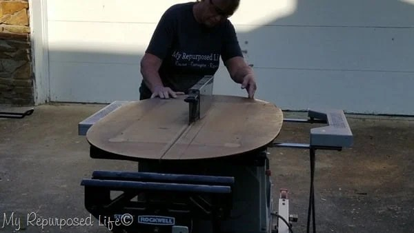 how to cut a table in half